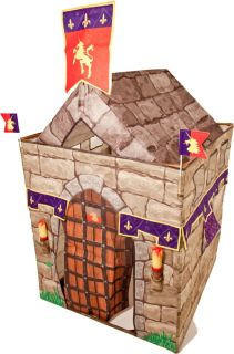 Traditional Garden Games Knight Castle Fortress Play Tent Set