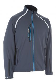 ProQuip Golf Mens Stormforce PX5 Waterproof Rain Jacket Full Zip Grey Small