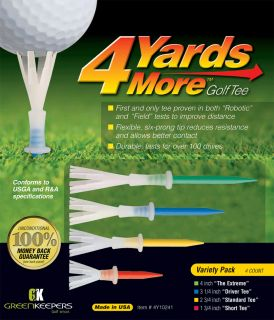 4 Yards More Golf Tees Mixed Length Pack