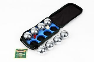 Traditional Garden Games 8 Steel French Boules Petanque Set