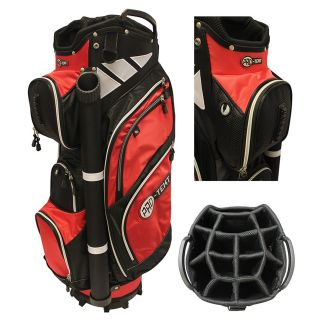 Pro-Text 9 Inch 14-Way Trolley Cart Golf Bag Black/Red