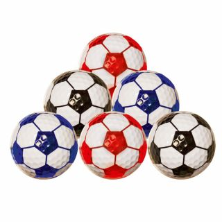 Football Truvis Style Golf Balls Pack of 6