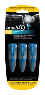 BrushT Fairway Wood Golf Tees with Ball Marker 52 mm Blue 3 pack