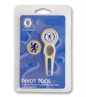 Premier Licensing Chelsea FC Divot Tool & Magnetic Ball Markers (2)
