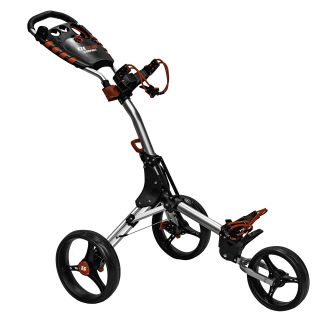 Easyglide Compact 3 Wheel Push Golf Trolley Silver