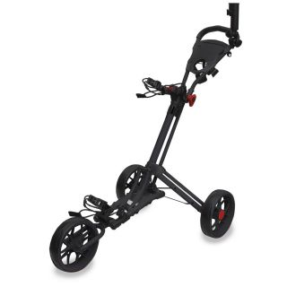 Easyglide Smart Fold 3 Wheel Push Golf Trolley Black