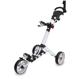 Easyglide Smart Fold 3 Wheel Push Golf Trolley White