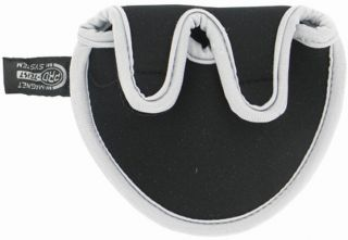 Pro-Tekt Two Ball Putter Cover Silver/Black