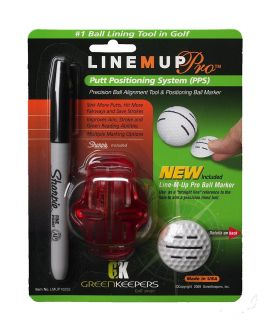 Line-M-Up Golf Pro Ball Marking Putt Positioning System and Marker