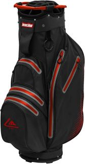 Longridge Aqua 2 Waterproof Golf Cart Bag with 14-Way Divider Black/Red