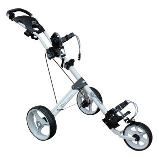 MKids 3 Lightweight Wheel Push Junior Kids Golf Trolley - White