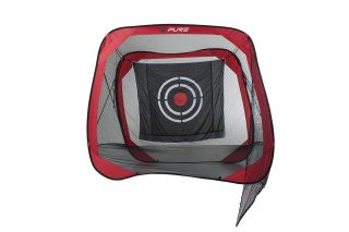 Pure2Improve Square Golf Practice Net with Target