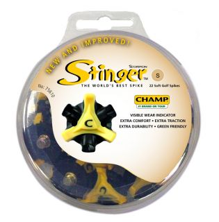 Champ Stinger Golf Spikes 6mm Small Metal Thread Cleats