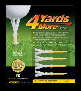 4 Yards More Golf Tees  Standard Yellow 2 3/4 Inches Length