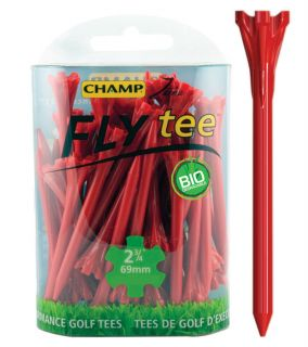 Champ Fly Tee Golf Tee 69 mm 2 3/4 Inch Red