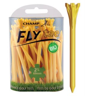 Champ Fly Tee Golf Tee 69 mm 2 3/4 Inch Yellow