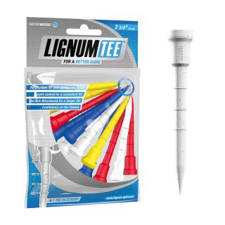 Lignum Golf Tees 2 3/4 Inch 72mm Pack of 12 Tees Mixed Colours