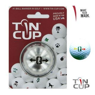 Tin Cup Ball Marking System - Alpha Players - Q